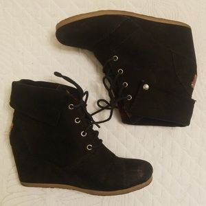 Mad Love Black Suede Lace Up Ankle Boots